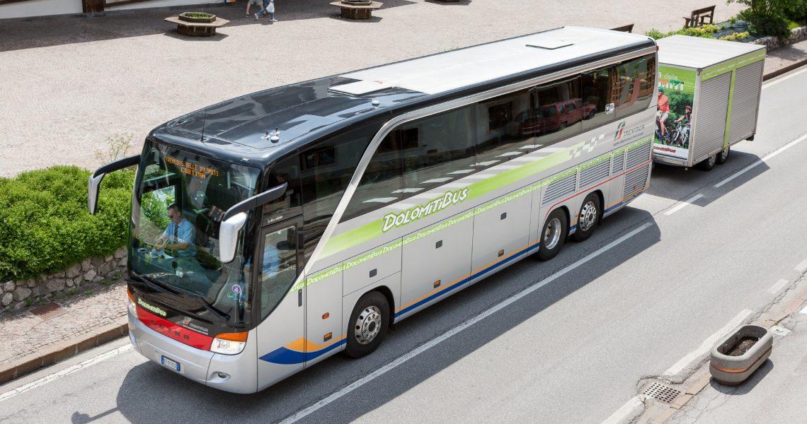 treno-bus delle Dolomiti